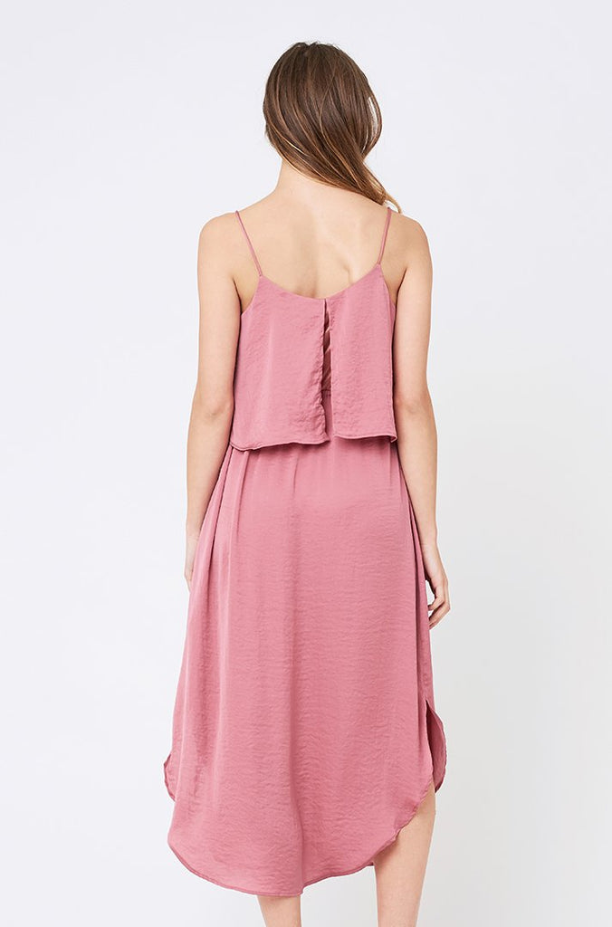 Pink Maternity & Nursing Slip Dress