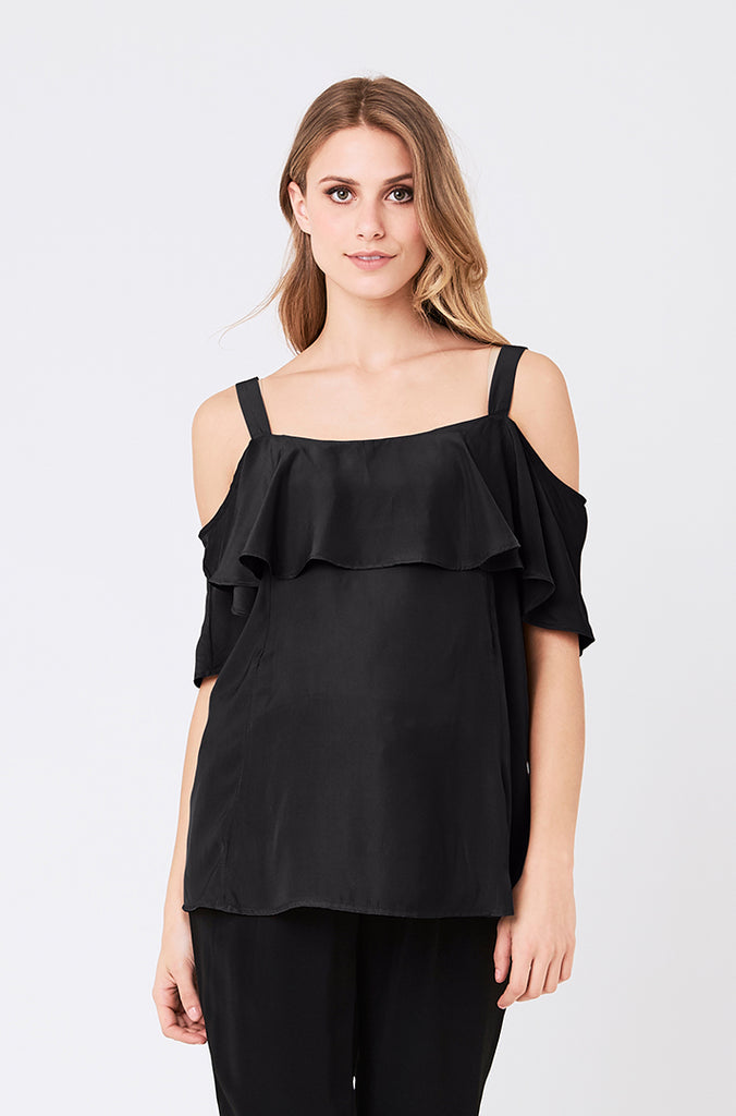 Maternity and Nursing Claire Top - Black