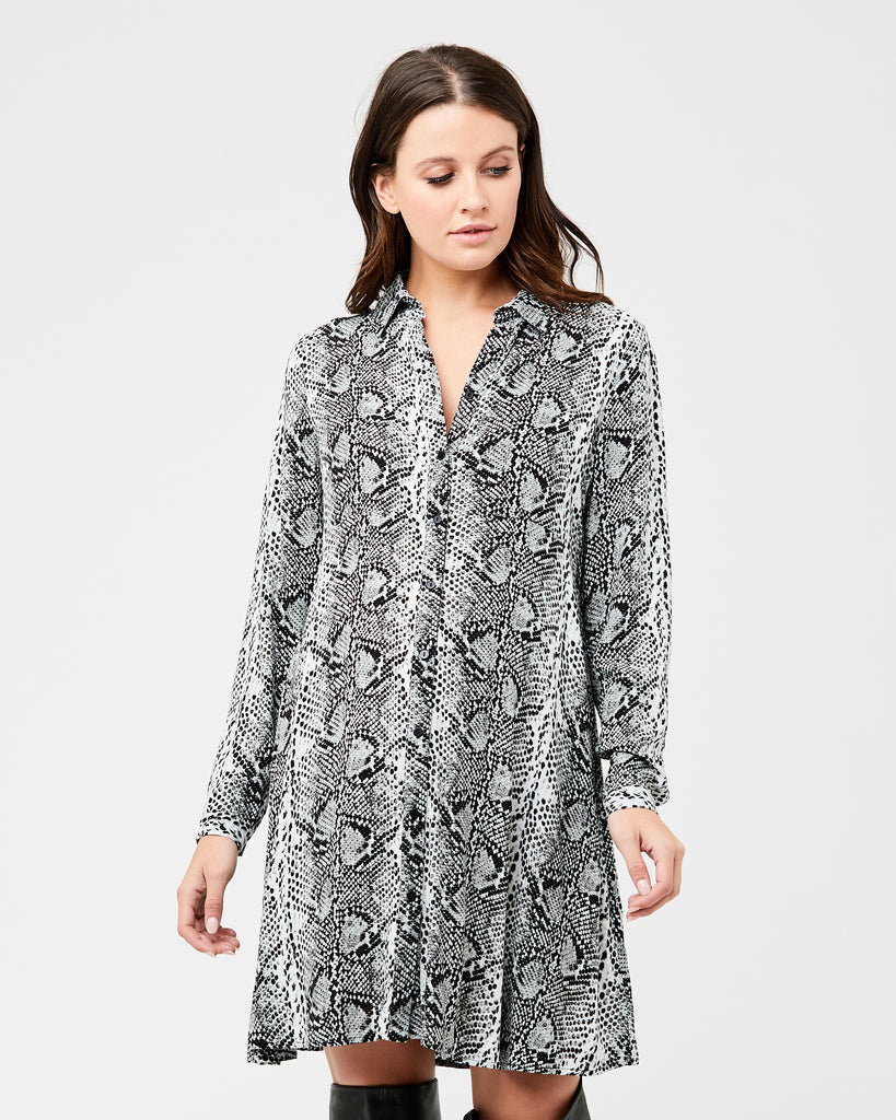 Maternity & Nursing Snake Print Dress