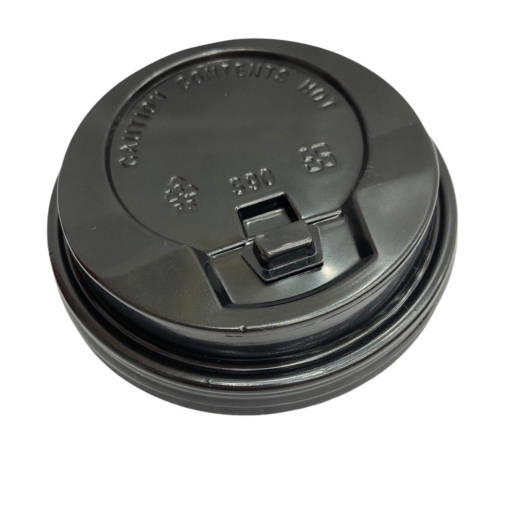 A10 R&D TEA Soft Black Color 90mm Cap Cover For Hot Drink Cup(100piece/Bag)