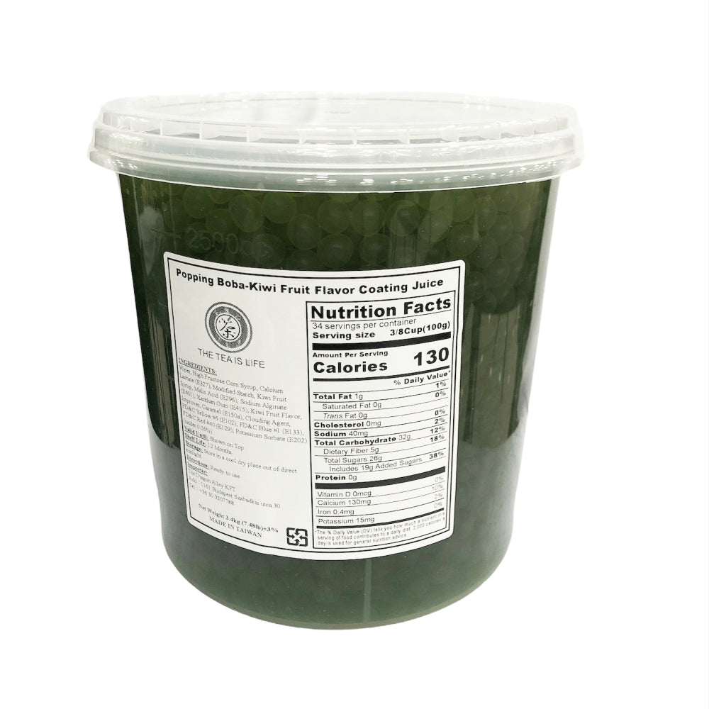 B20 R&D TEA Popping Boba - Kiwi Flavor Coating Juice - 3.4kg