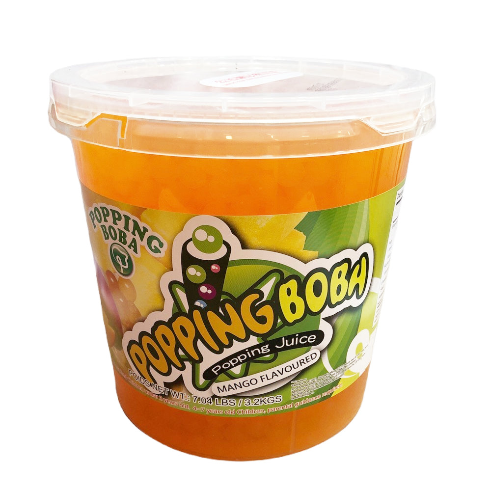 B8 R&D TEA Mango Juice Popping Boba 3.2kg
