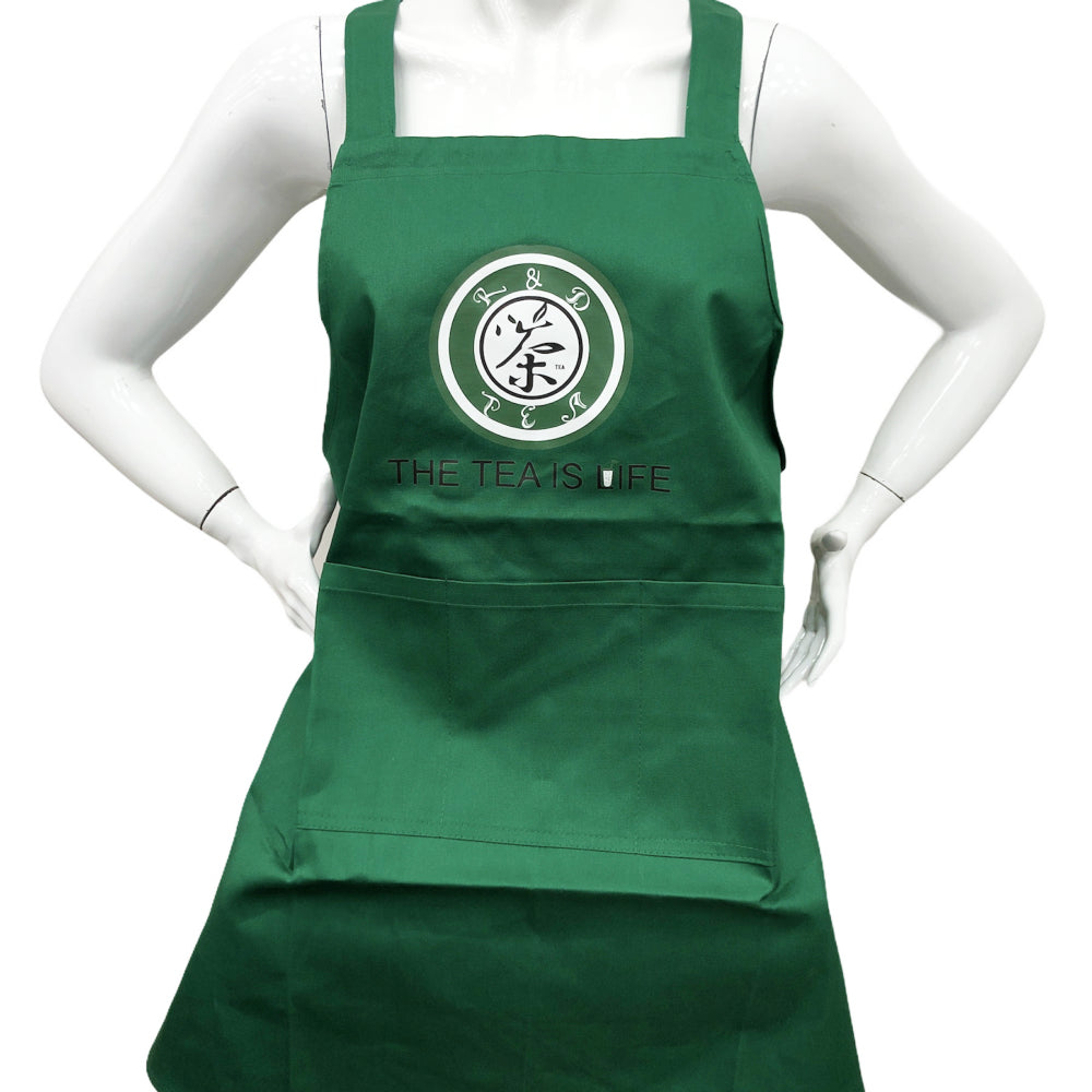 G4 R&D TEA Working Uniform Apron Color:Green