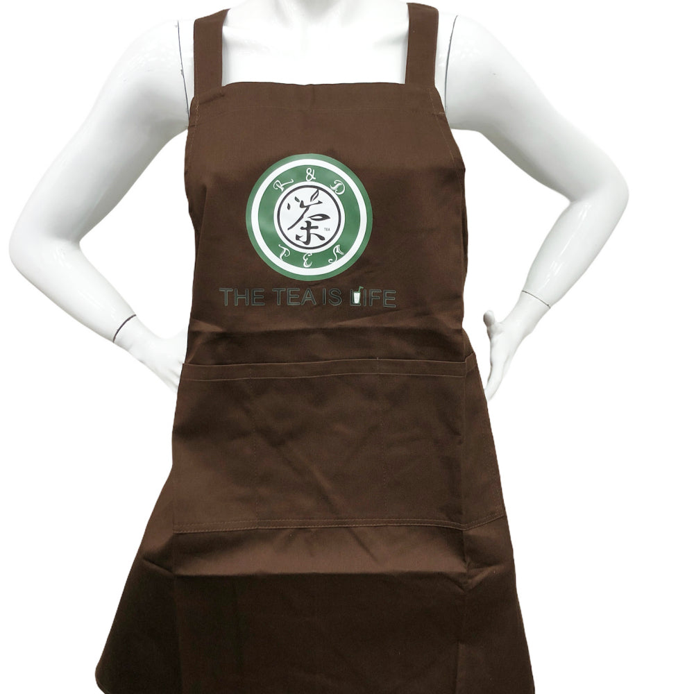 G5 R&D TEA Working Uniform Apron Color:Brown