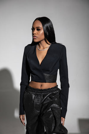 Torch Cropped Blazer