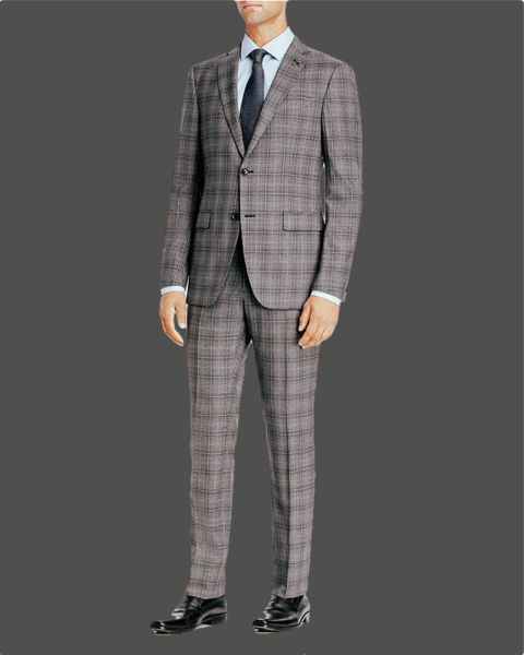 Izac Suit 100% wool  Slim fit Windowpane