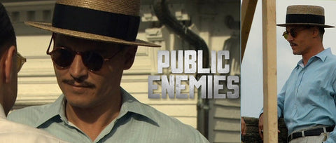 """Classic Italian Boater inspired by the one created at Baron Hats Studios for Johnny Depp in """"Public Enemies"""""""