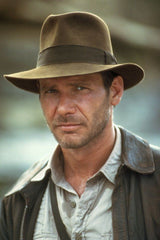 "classic brown fedora worn by Harrison Ford in ""Indiana Jones and the Temple of Doom"""