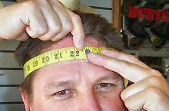 Make sure the tape goes over your occipital bone (the small bump at the back of your head).