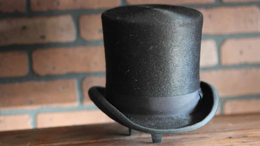 Vintage Inspired-Long Fur Top Hat
