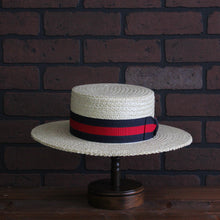 Load image into Gallery viewer, Classic Straw Boater