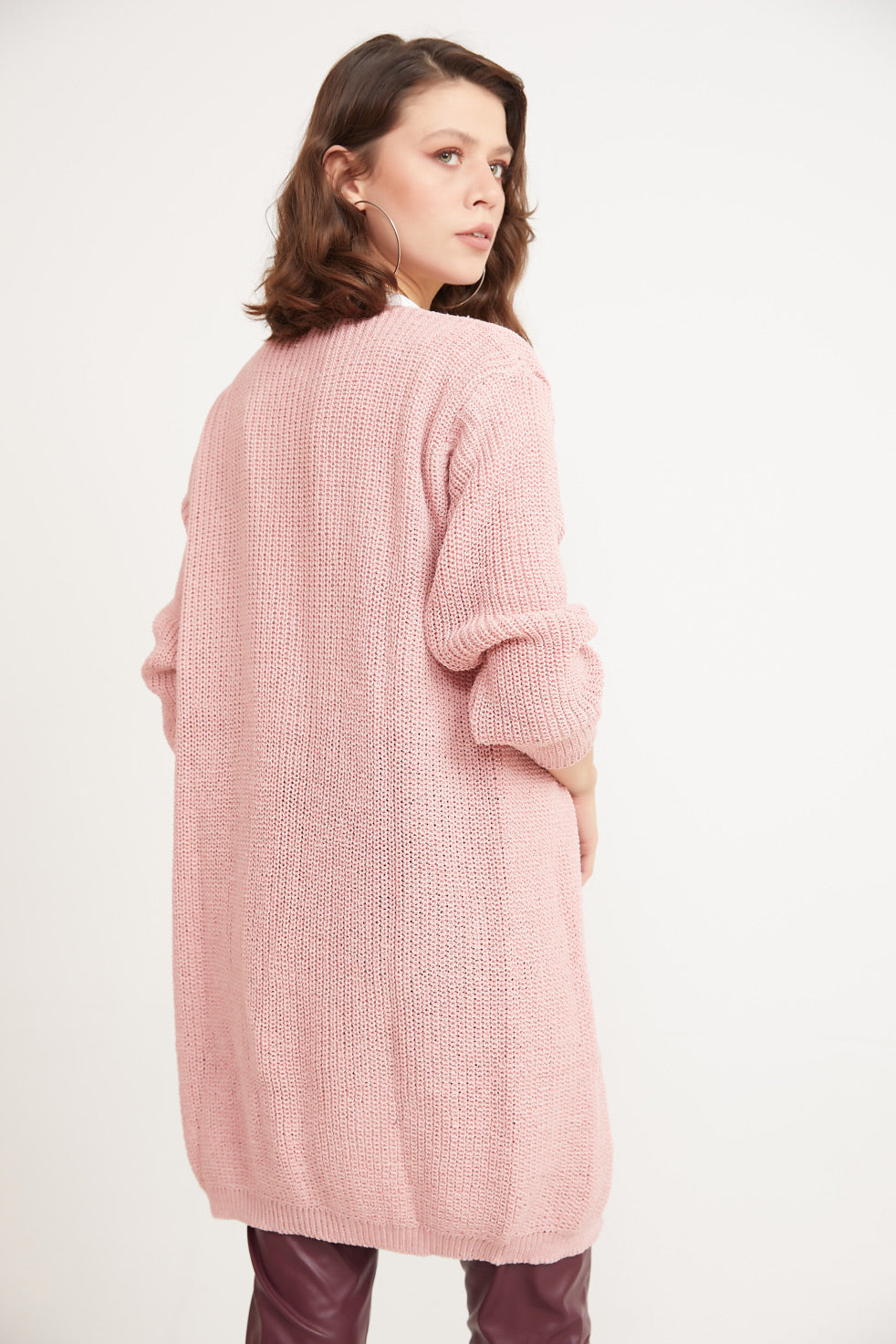 Rose-powder Front Open Thessaloniki Cardigan