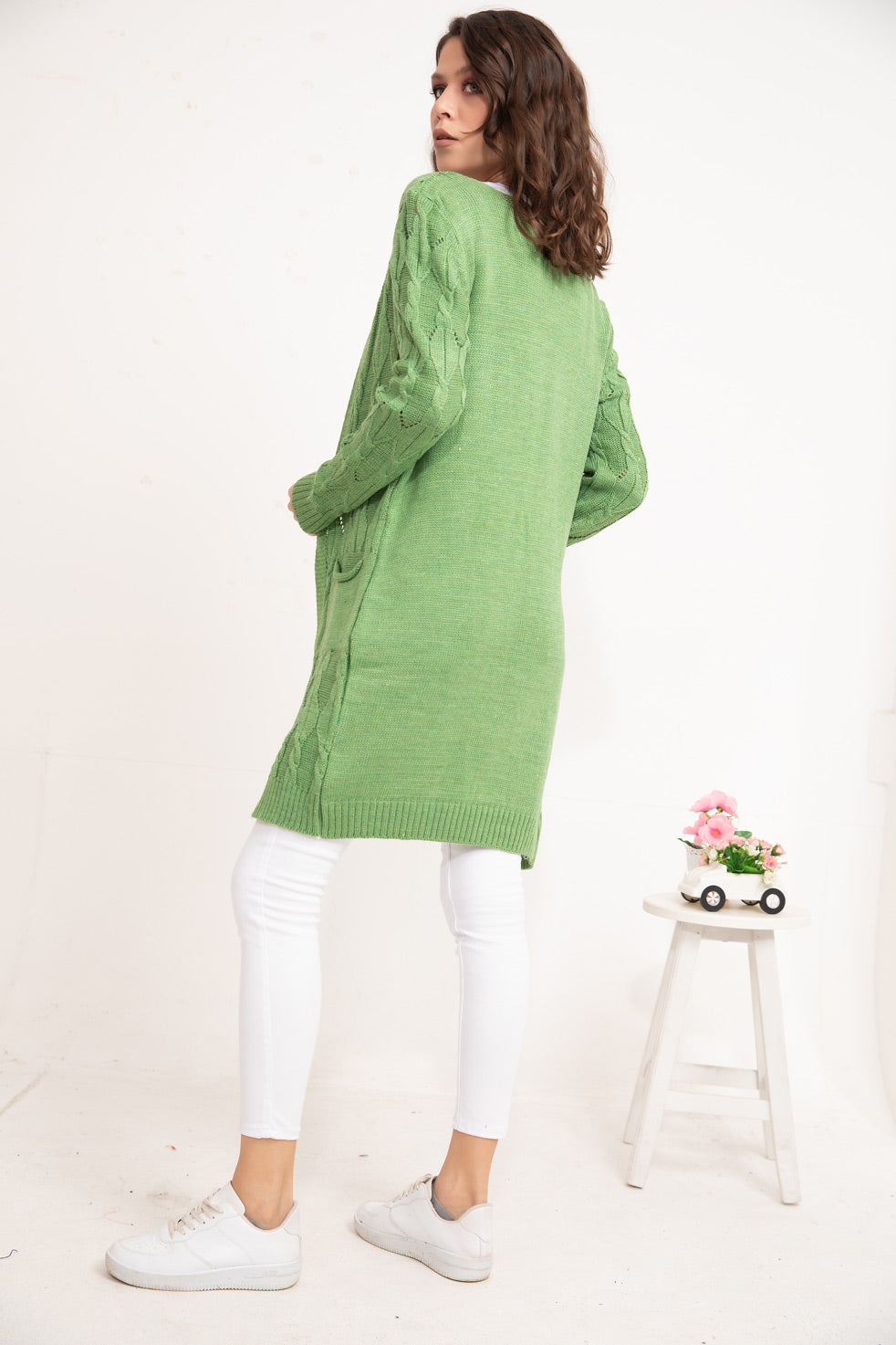 Green Patterned knitwear Cardigan