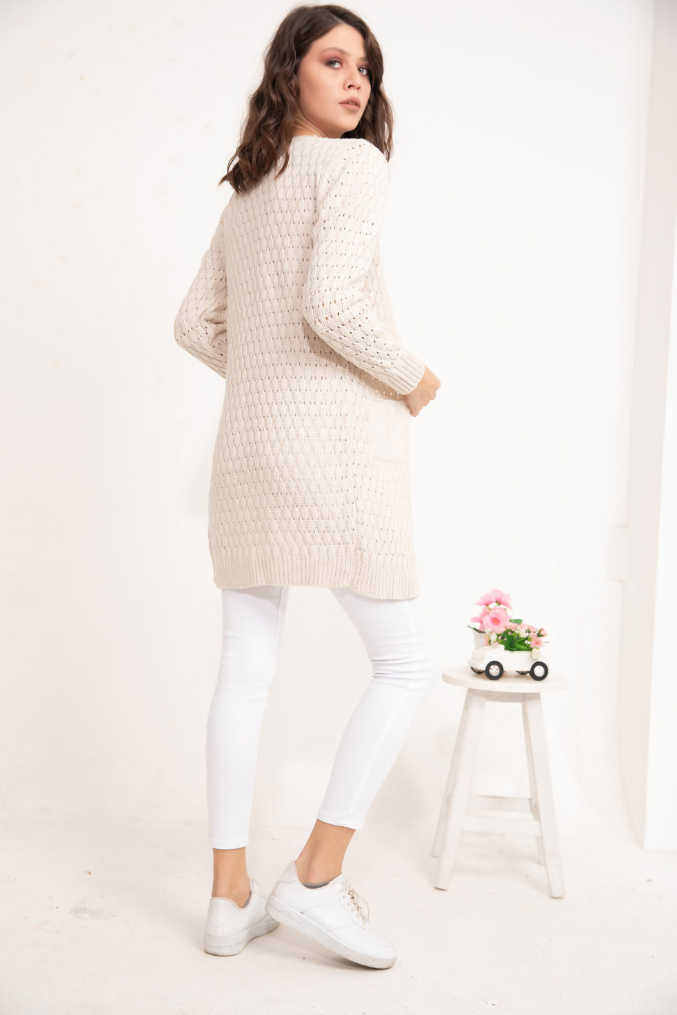 Stone Patterned Cardigan
