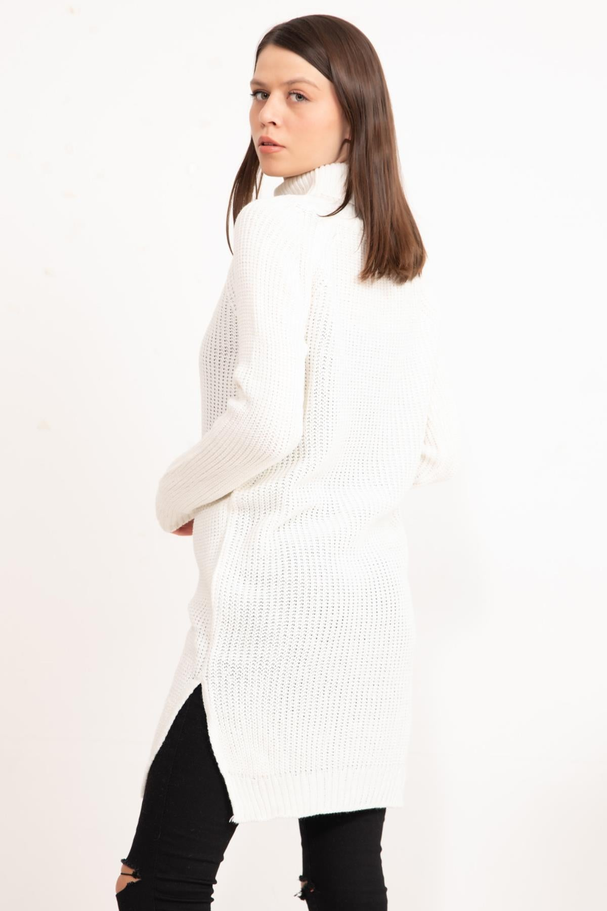 Off-white Turtleneck Knitwear Tunic