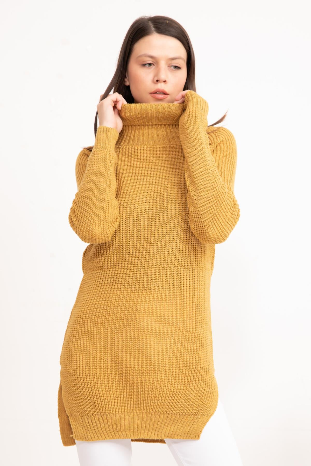 Saffron Turtleneck Knitwear Tunic