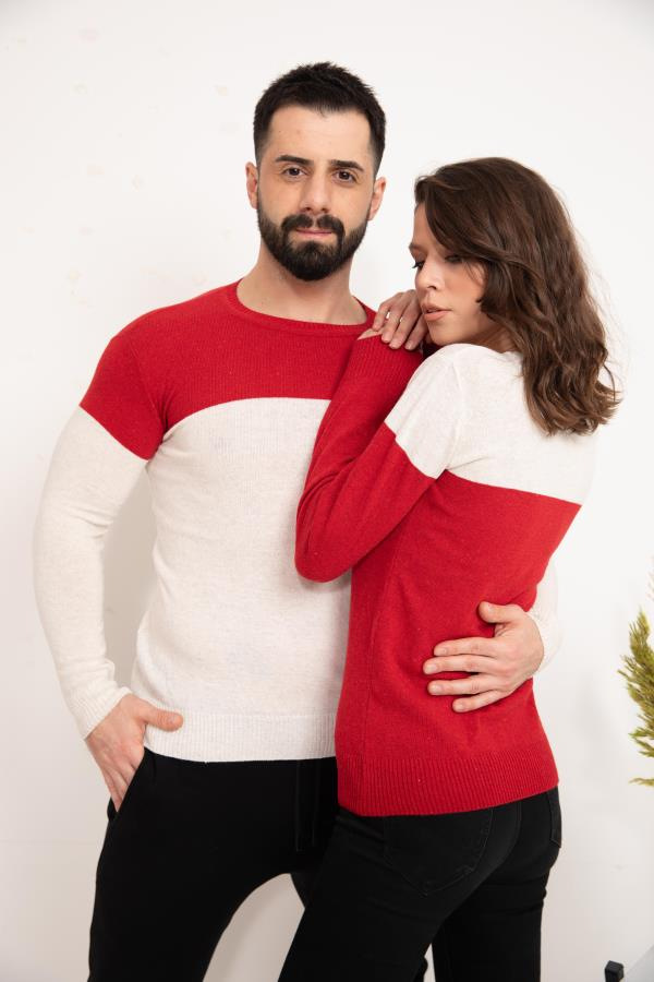 Red Sweater knitwear For lovers