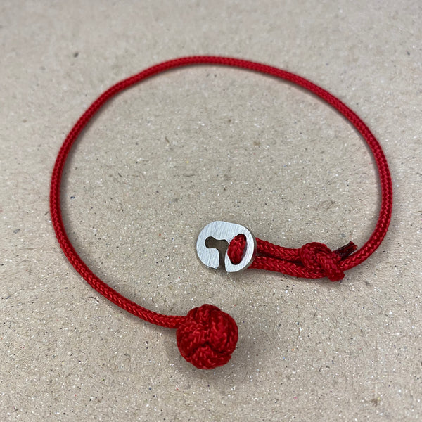 'Goal' Imperial Red Paracord Wristband