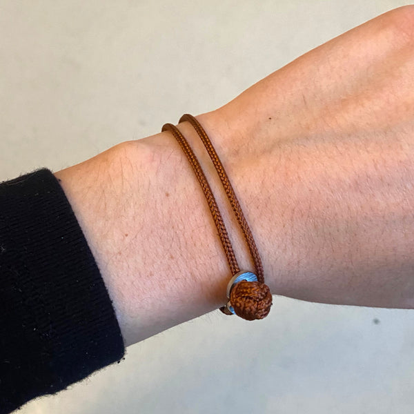 'Goal' Rust Brown Paracord Wristband