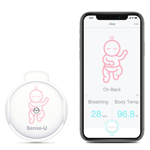 Baby Breathing Monitor - Pink