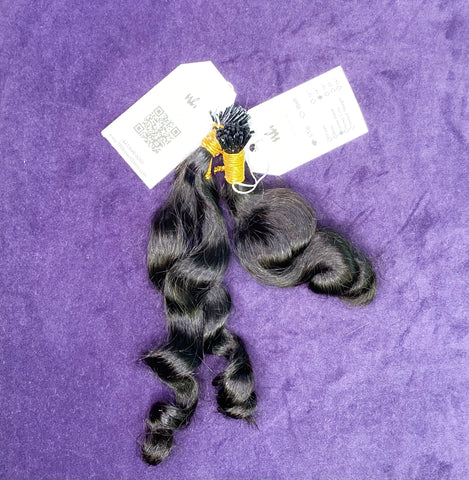 100% Raw Cambodian Lovey Loose Wavy I-Tip