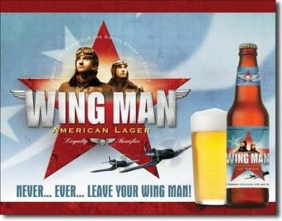 "Retro Aviation Sign ""Wing Man American........."""