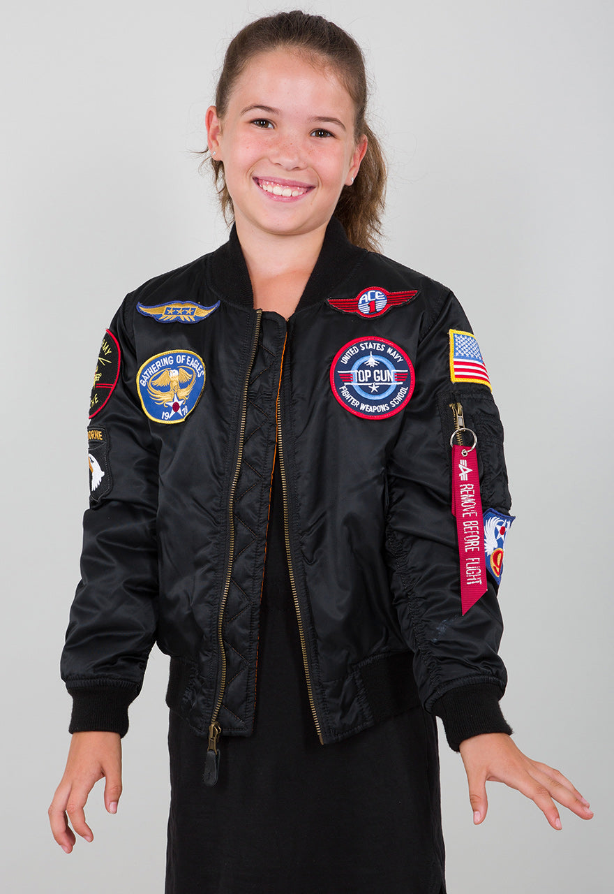 Alpha Top Gun Bomber Jacket MA-1 Youth Patch 103712