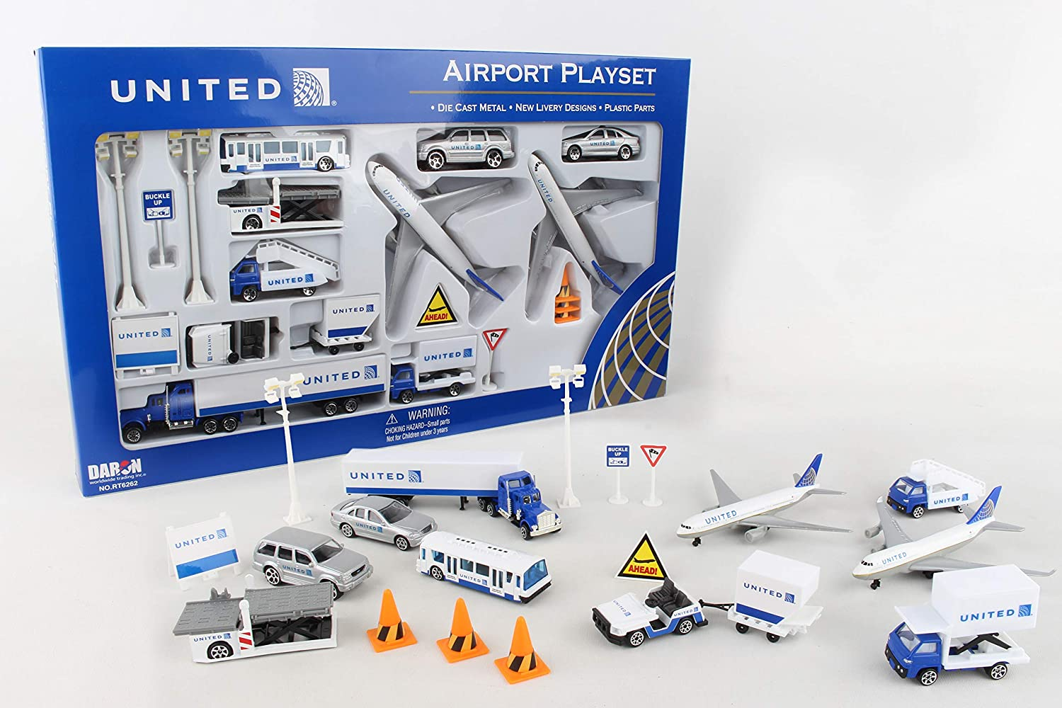 UNITED AIRLINES Airport Large Playset