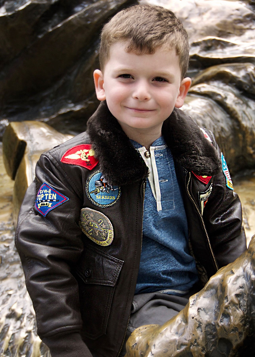 Cockpit USA Top Gun Jacket Youth Leather K201036I