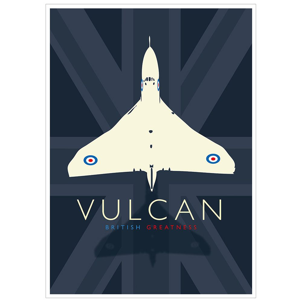 Poster VULCAN BRITISH GREATNESS A3
