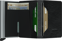 Secrid - Slimwallet Stitch Linea Black טען תמונה לגלריה