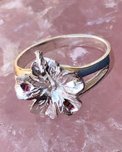 Load image into Gallery viewer, Hibiscus Ring  .925 Sterling Silver
