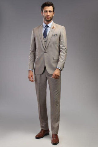 Slim Fit Suit Brown