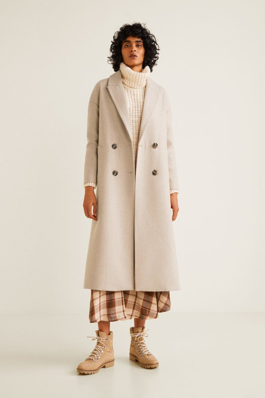 Mango Sample - Womens Ivory Coat