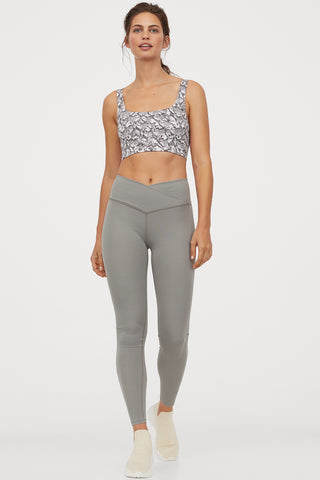 Wrapover-waist sports tights