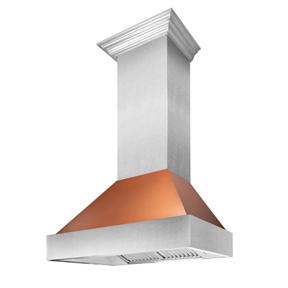 DuraSnow® Stainless Steel Range Hood with Copper Shell (8654C)