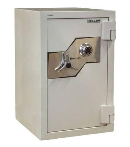 Hollon Safe FB-685C 2 Hour Fire and Burglary Safes, Steel, White