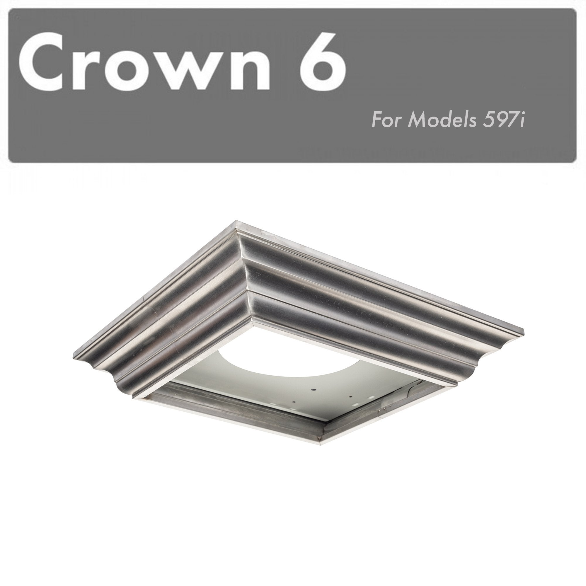 ZLINE Crown Molding #6 For Island Range Hood (CM6-597i)