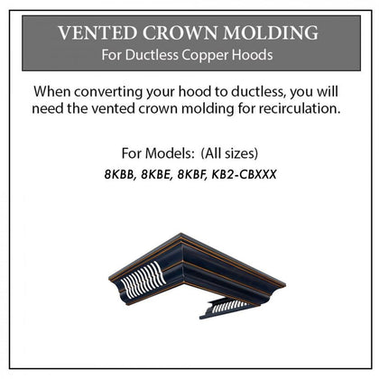 ZLINE Crown Molding with Vents for Designer Copper Range Hood (CM6V-8KBB)