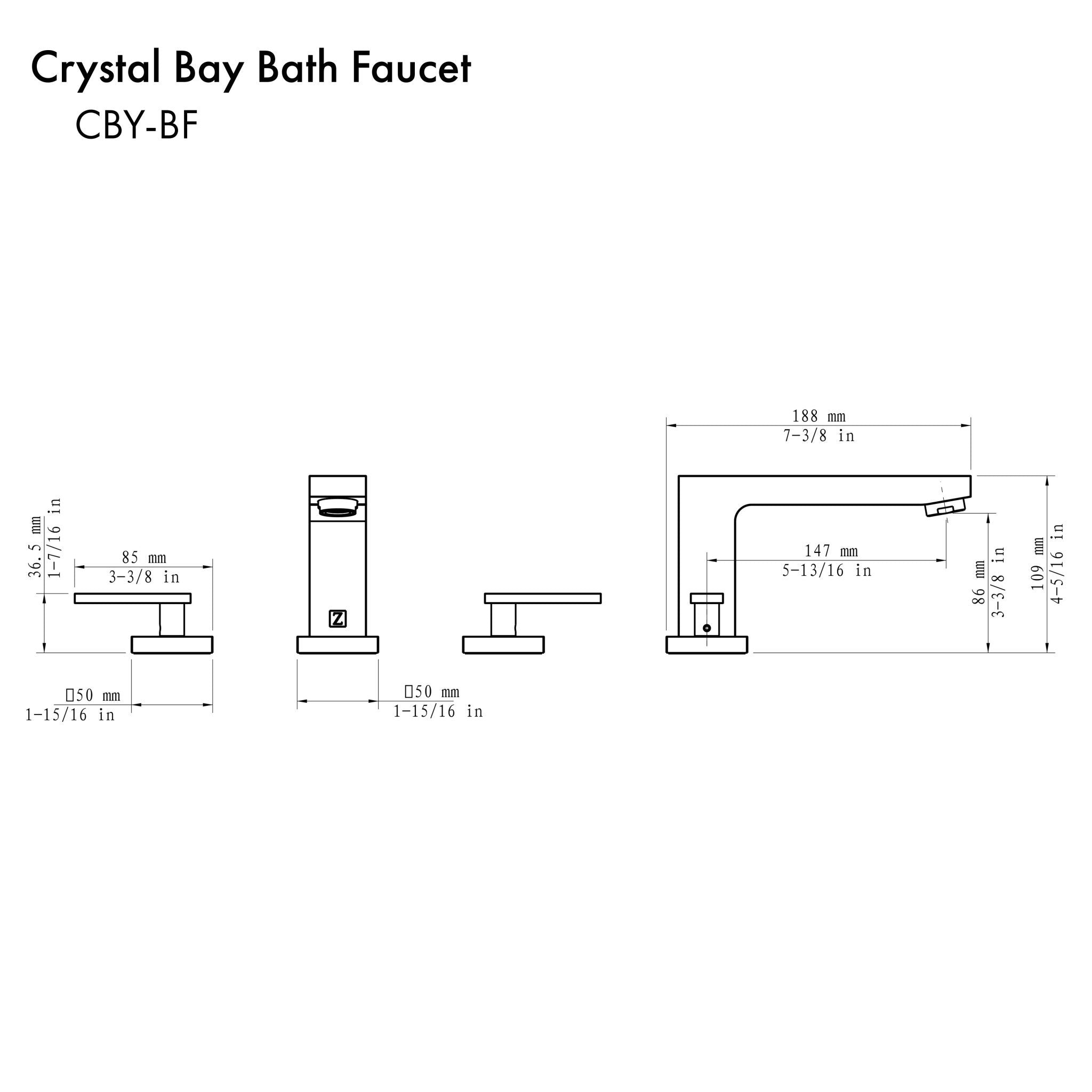 ZLINE Crystal Bay Bath Faucet with Color Options (CBY-BF)