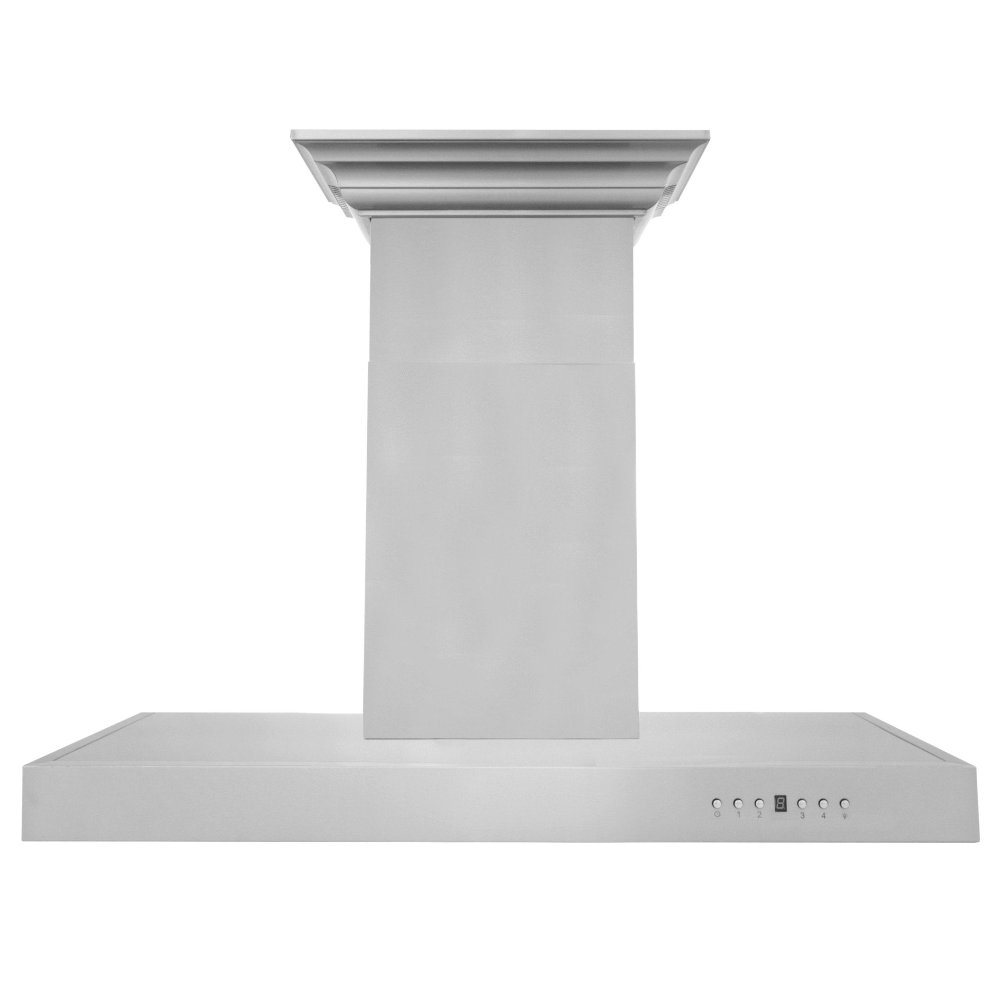 ZLINE Wall Mount Range Hood In Stainless Steel With Built-In CrownSound® Bluetooth Speakers (KECRN-BT)
