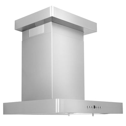 ZLINE Wall Mount Range Hood In Stainless Steel With Crown Molding (KECRN)