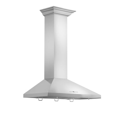 ZLINE Wall Mount Range Hood In Stainless Steel With Crown Molding (KL2CRN)