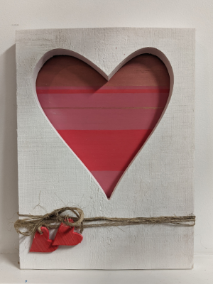Heart Cut-Out Wood Sign