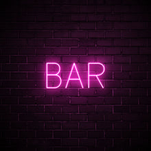 Bar LED pink neon sign wall art for party