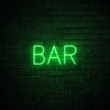 Bar LED green neon sign wall art for party