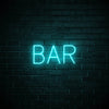 Bar LED blue neon sign wall art for party