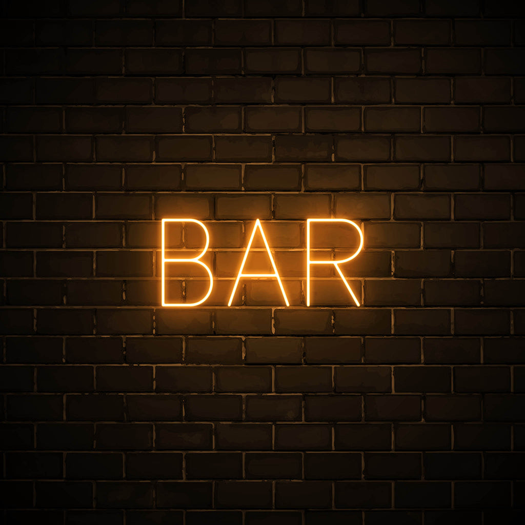 Bar LED orange neon sign wall art for party