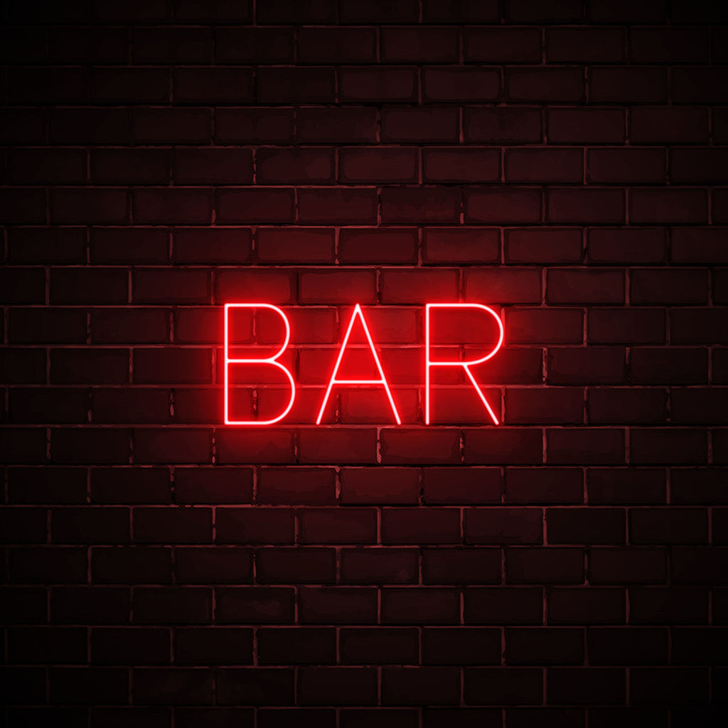 Bar LED red neon sign wall art for party