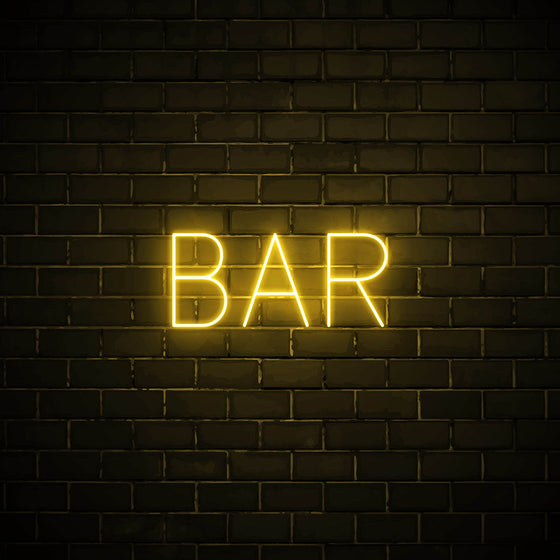 Bar LED yellow neon sign wall art for party